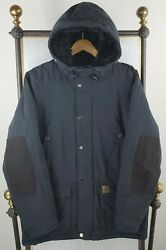 Size Large Mens Trapper Jacket Parka Black Insulated Hooded 328 Wip
