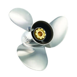 Solas 3431-135-15 Prop Yamaha Tohatsu Parsun 13.5and039and039 15and039and039 Pitch 3 Blade Prop Rh