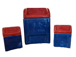 Vintage Mid-century Mailbox Cookie Jar And Matching Salt And Pepper Shakers