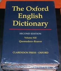 Oxford English Dictionary Edition Second Edition Volumes 13 14 15 16 17 18 19 20