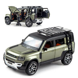 1/24 Land Rover New Defender 110 Diecast Model Car Toy Collection Sound Light