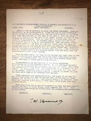 1885 Cubs Theodore A. Ted Kennedy, Signed Baseball Letter, D.1907