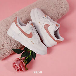 Nike Wmns Air Force 1 And03907 Ess Low Essential White Rust Pink Gold Af1 Cz0270-103