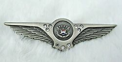 United Airlines 50 Years Of Service Wings Pin With 9 Diamonds- Rare