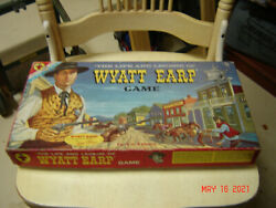 Vintage 1958 Transogram Wyatt Earp Board Game + And Tombstone Game Total 3 Games