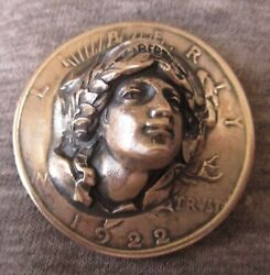 Liberty On 1922 Peace Dollar 3d Pop Push Punch Out Repousse Coin