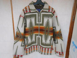 Pendleton Harding Pattern Wool Coat Rn29685 Size L Made In Usa Used From Japan