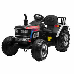 12v Kids Ride On Tractor Electric Car W/remote Battery Powered Tractor Mp3 Black