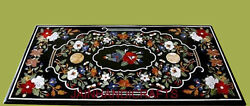 3and039x2and039 Marble Table Top Dining Center Malachite Lapis Inlay Mosaic Decor Use