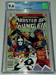 Master Of Kung Fu 115 Cgc 9.6 White Pages Death Dealer Marvel August 1982 Sa