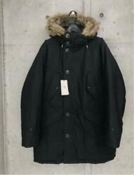 Rrl Hoodie Fur Military Oiled Coat Jacket Diamond Quilting Men L From Japan New