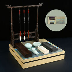 Chinese Calligraphy Set Gift Boxed Brush Pen Ink Paper Inkstone W/accesaries Set