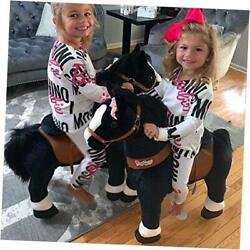 Official Classic U Series Ride On Horse Toy Plush Walking Animal Black Small