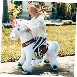 Official Classic U Series Ride On White Horse Unicorn Toy Plush Walking Small