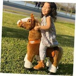 Official Classic U Series Ride On Horse Toy Plush Walking Animal Brown Horse