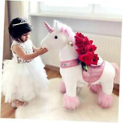 Official Classic U Series Ride On Horse Toy Plush Walking Animal Pink Small