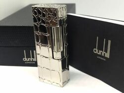 Dunhill Gas Lighter Silver Rectangle Lg2995