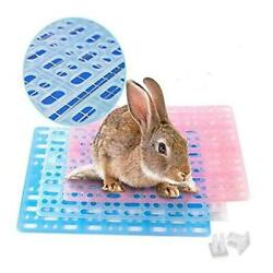 Rabbit Feet Pad Hole Leak Water Design For Plastic Bunny Cage Mat Foot