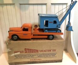 1950's Structo Truck And Steam Shovel No. 402 With Original Box