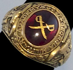 Heavy 10k Man Ring Georgia Military Academy 1958 Heritage Ring Size 10