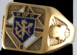 10k Gold Used Heritage Knights Of Columbus Ring Man Size 11