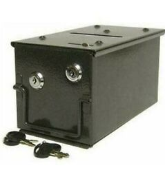 Casino Cash Metal Drop Box With Mount Sleeve For Poker Blackjack Paigow Game