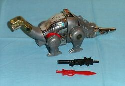 Original G1 Transformers Dinobot Sludge With Sword And Gun Weapons Only
