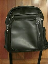 Tumi Backpack Arrive Kingsford Black Leather Backpack Look and Read $174.95