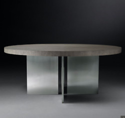 Restoration Hardware And039channeland039 Round Dining Table 48