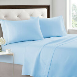 4 Piece Bed Sheet Set 2200 Count 14 Deep Pockets Egyptian Comfort Hotel Quality