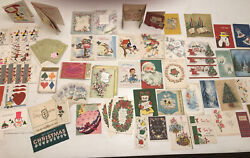 Lot 127 1940's - 70's Vintage Christmas Birthday Holiday Greeting Card Lot New