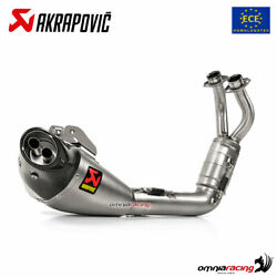 Akrapovic Full Exhaust System Approved Titanium For Yamaha Tracer 700 2020
