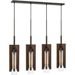Cal Lighting And Accessories Fx-3690-4 Almeria Island Light Pine And Iron