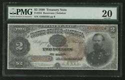 Fr354 2 1890 Treasury Note Pmg 20 Vf App Rarest 2 Only 49 Recorded Wlm6895