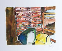 Bob Dylan Lakeside Cabin Signed Giclee Etching - Contemporary Art