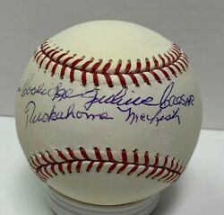 Indians Cal Mclish Signed Official Mlb Baseball Auto With Full Name Cubs Dodgers