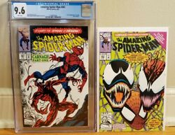 Amazing Spider-man 361 Cgc 9.6 Marvel 1992 1st Carnage White Pages Plus 363