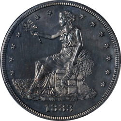 1883 Trade Dollar Proof Pcgs Unc Details Great Eye Appeal Strong Strike