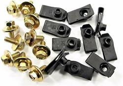 Metric Body Bolts And U-nut Clips- M6-1.0 X 16mm 10mm Hex 10 Ea H1881 1903/1925