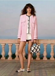 Auth Runway Pink Cc Button Jacket Size38 Us6 Us8