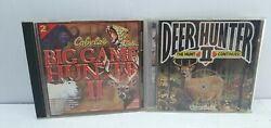 Deer Hunter 2 And Big Game Hunter 2 Pair Pc Disc Vgc Game Head Games Wizard Works