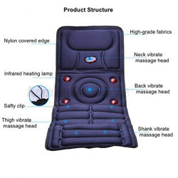Foldable Massage Mat Full Body Massager With 9 Vibrating Heating Pain Relief Pad