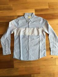Visvim Authentic Striped Design Long Sleeve Shirt Size L Used From Japan