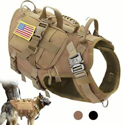 Dog Harness Military No Pull Pet Vest Medium Large Dogs Training Hiking Molle