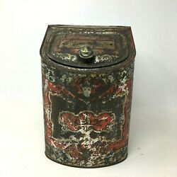 Antique General Store Display Tea Coffee Spice Tin Container