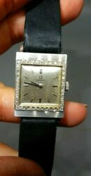 Omega 14k White Gold And Diamond Watch Gorgeous Vintage Watch