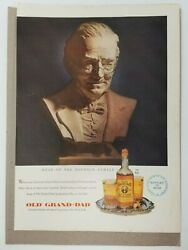 Vintage Large Advertisement Old Grand-dad Kentucky Straight Bourbon Whiskey