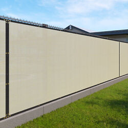 11ft Beige Fence Privacy Screen Commercial 95 Blockage Mesh Fabric W/gromment