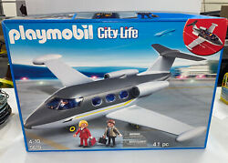 Playmobil 5619 City Life Private Jet Plane 41pc Building Play Set New In Box