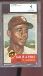 1953 Topps 220 Satchell Paige Satchel Browns Bgs Bvg 4 Graded Baseball Card